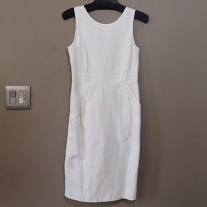 JCREW White Faux Linen Dress